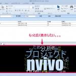 NVivoの画面を広く使う3つの方法